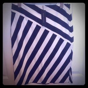 NWT Banana Republic black and white striped Skirt